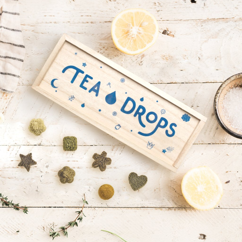 tea drops wooden box