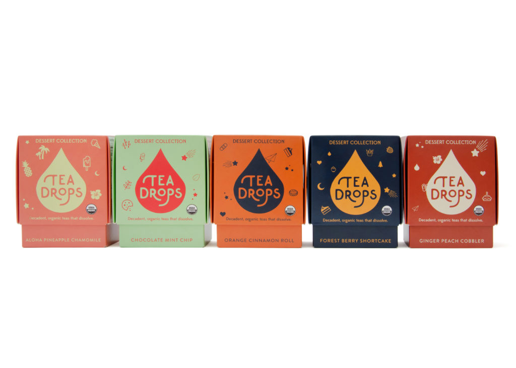 tea drops dessert collection