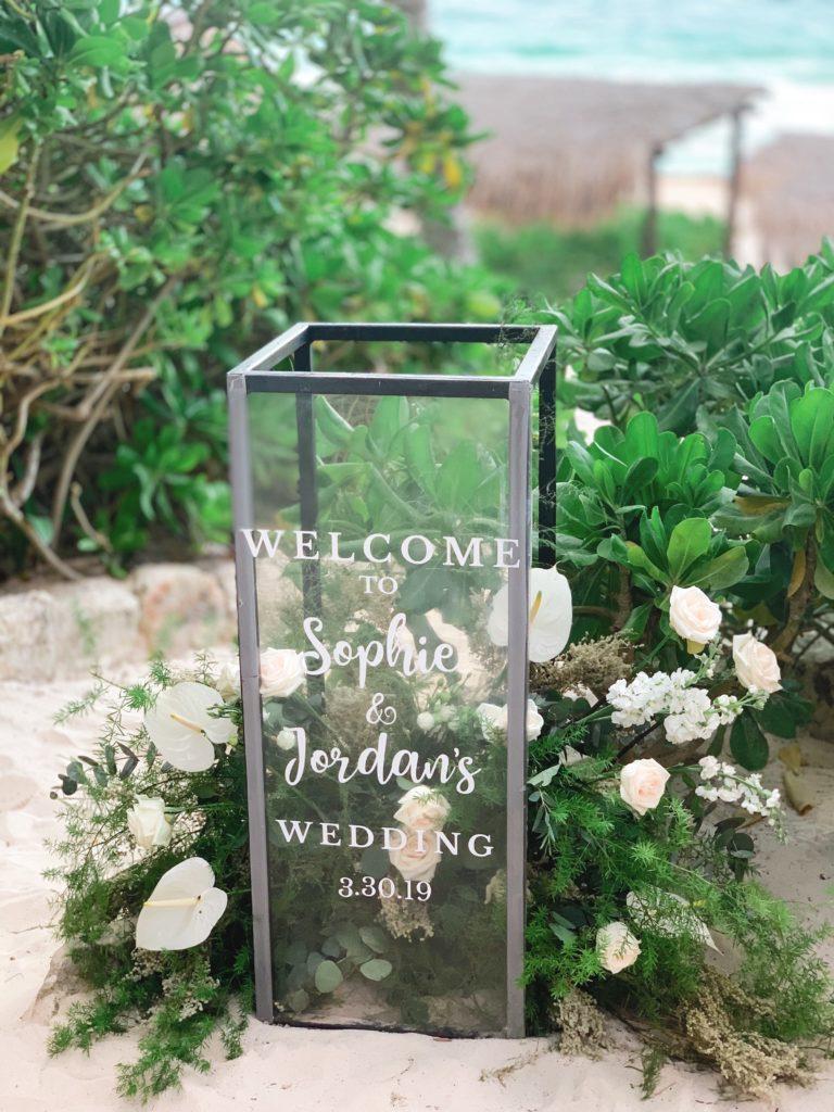 tulum wedding sign