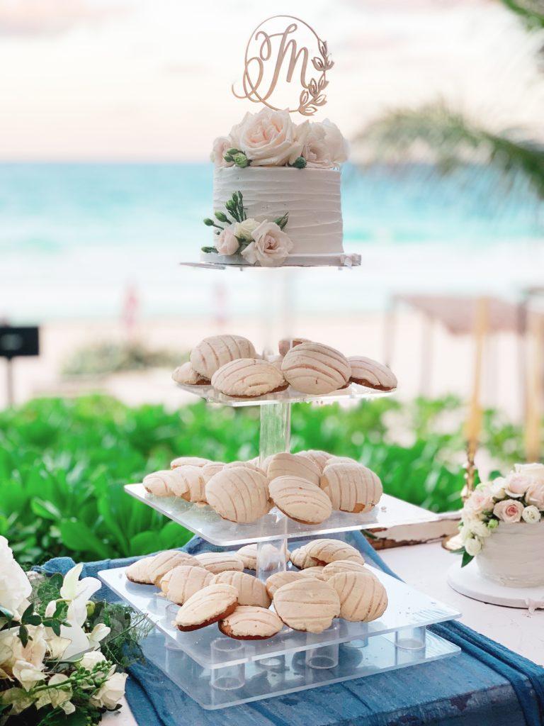 tulum wedding cake and desserts