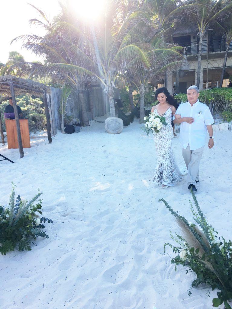 tulum wedding - boho bride - made with love dress