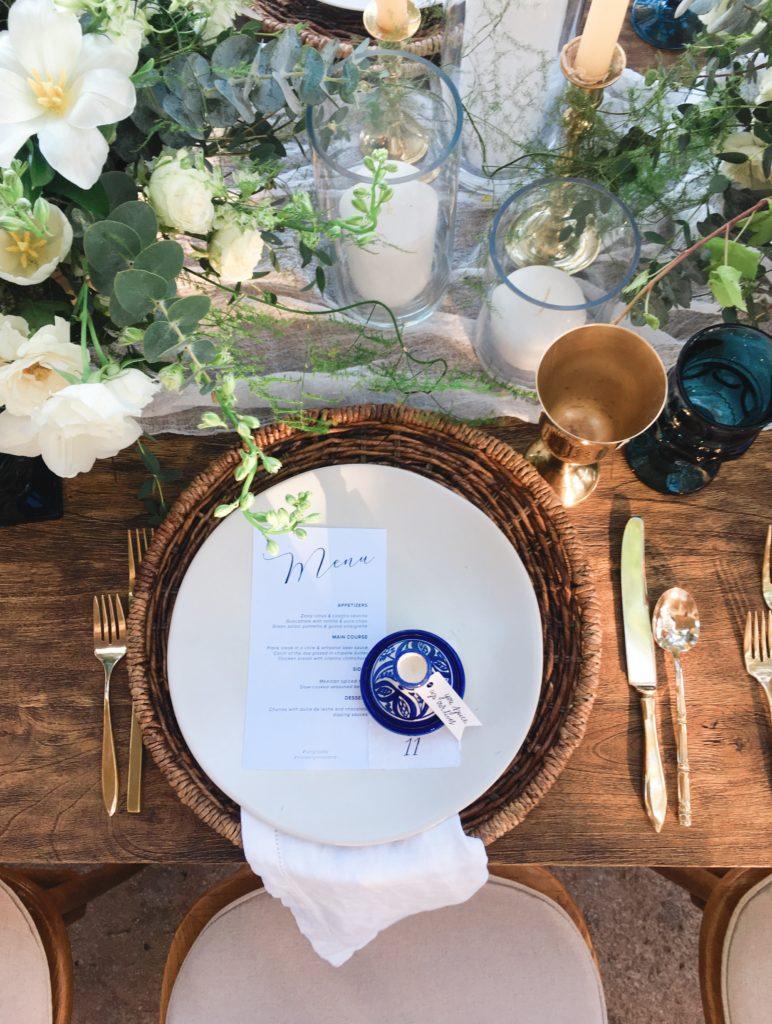 tulum wedding place setting - diana romo