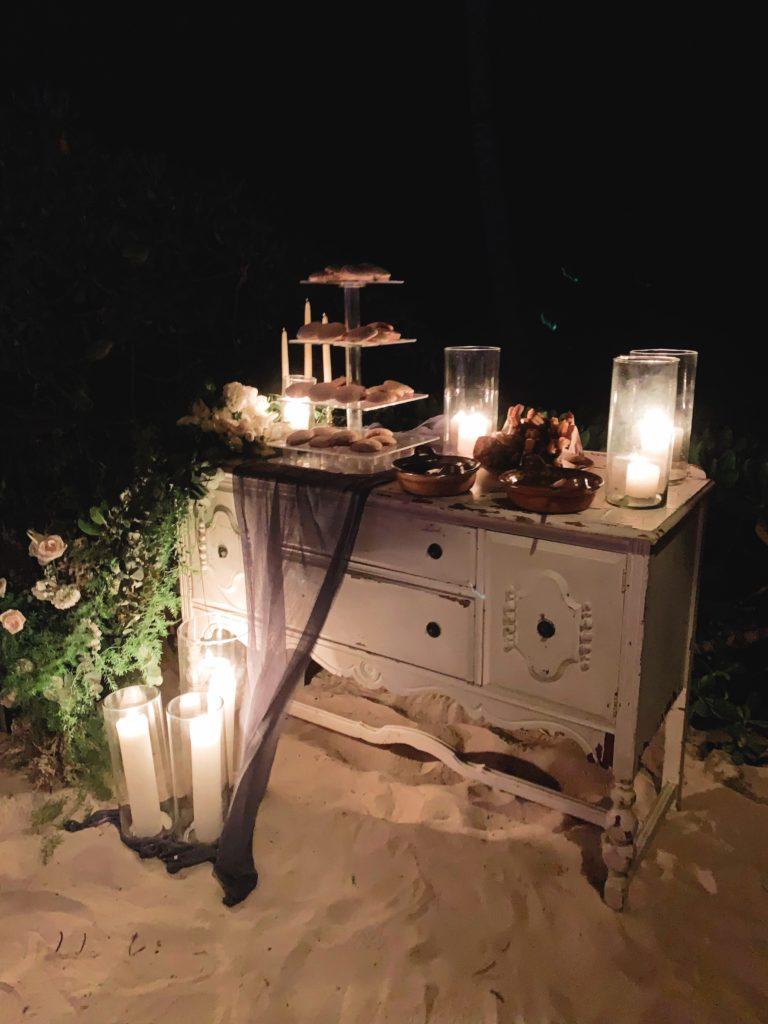 tulum wedding at nest - late night churros