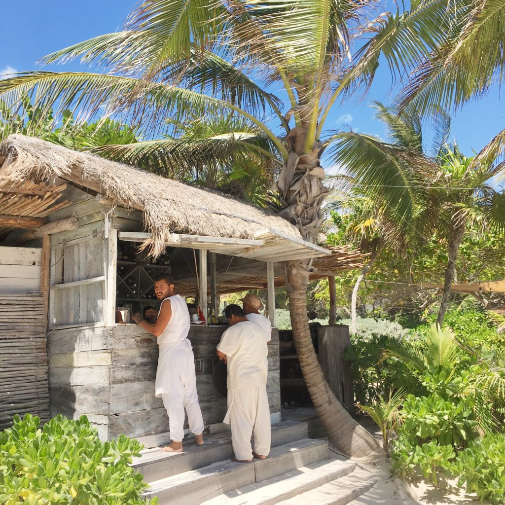 La Popular restaurant in Tulum; Tulum dress code of white and linen