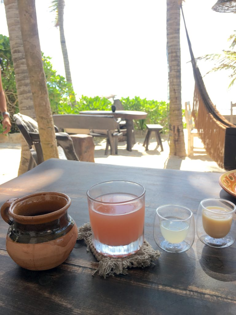 Nest Tulum hotel breakfast beverages