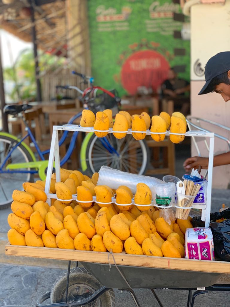 local mango cart in Tulum